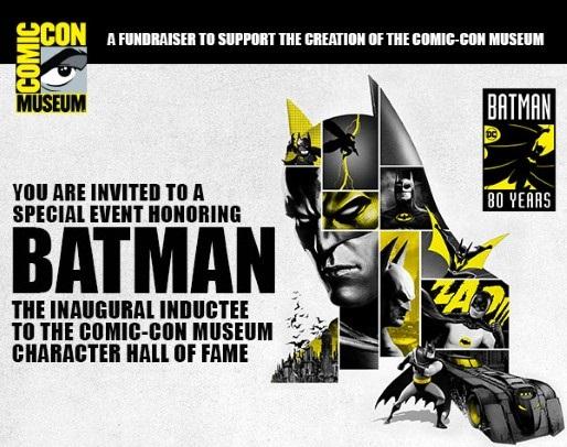 Batman será el PRIMER miembro de Comic en entrar al Salón de la Fama de Comic-Con Museum