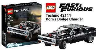 LEGO® TECHNIC™ ACELERA A FONDO CON EL SET DEL DODGE CHARGER DE DOM DE LA FRANQUICIA  FAST & FURIOUS