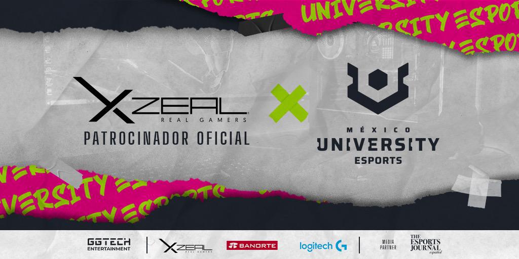 XZEAL YA ES PATROCINADOR OFICIAL DE UNIVERSITY ESPORTS MX.